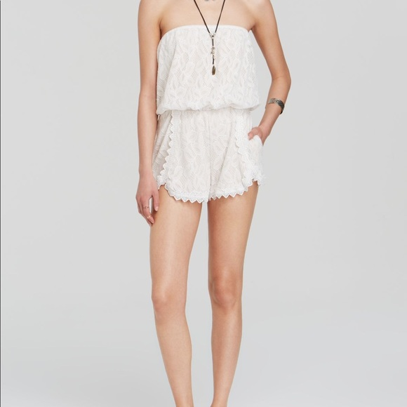 Free People Other - free people - strapless white lace romper